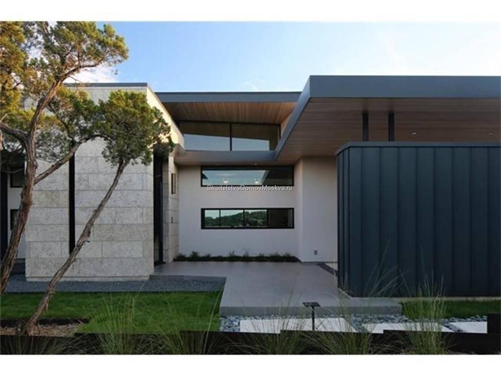 Строительство дома по современному проекту на заказ фото