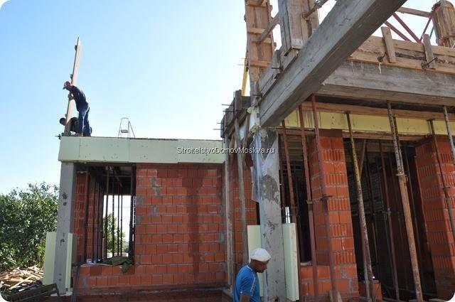 Процесс строительства монолитно-каркасного дома в Москве